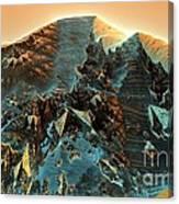 Fractal Moutain Canvas Print