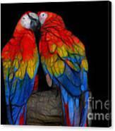 Fractal Parrots Canvas Print
