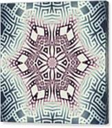 Fractal Snowflake Pattern 1 Canvas Print