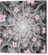 Fractal Soft Flowers Canvas Print