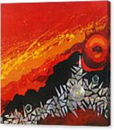 Fractal Sunrise Canvas Print