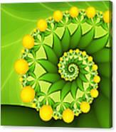 Fractal Sweet Yellow Fruits Canvas Print