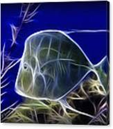 Fractalius Aquatic Fish Canvas Print
