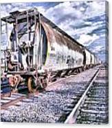 Graffiti Train Canvas Print