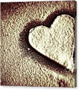 Imprint On My Heart Canvas Print