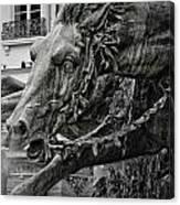 Fragment Of Bartholdi Fountain Canvas Print