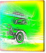 In Your Future I Can See Fragments Of An Old Car Called Bel Air  Canvas Print