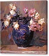 Fragrant Rose Petals Canvas Print