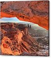Framed By Mesa Arch Canvas Print