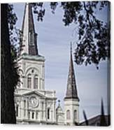 Framed Cathedral Canvas Print