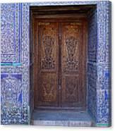 Framed Door In Kheiva Canvas Print
