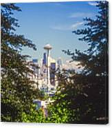 Framed Space Needle Canvas Print