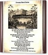 Framed Vintage 23rd Psalm Sepia Canvas Print