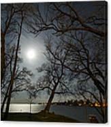 Framing The Moon Canvas Print