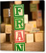 Fran - Alphabet Blocks Canvas Print
