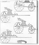 France Carriages, C1740 Canvas Print
