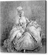 France Court Life, 1778 Canvas Print