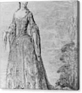 France Fashionable Lady Canvas Print