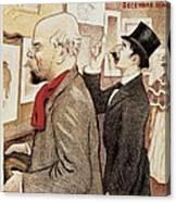 France Paris Poster Of Paul Verlaine And Jean Moreas Canvas Print