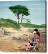 Frances At The Beach Canvas Print