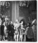 Francis I & Charles V Canvas Print
