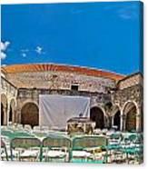 Franciscian Monastery In Hvar Panorama Canvas Print