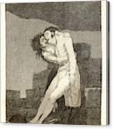 Francisco De Goya Spanish, 1746-1828. El Amor Y La Muerte Canvas Print