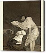Francisco De Goya Spanish, 1746-1828. Mala Noche. A Bad Canvas Print