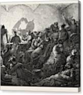 Franco-prussian War Prussians In Metz Canvas Print