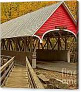 Franconia Notch Flume Gorge Bridge Canvas Print