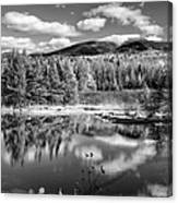 Franconia Ridge Reflection B And W Canvas Print