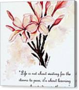 Frangipangi Pulmeria  Poem Canvas Print