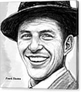 Frank Sinatra Art Drawing Sketch Portrait Canvas Print