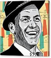 Frank Sinatra Pop Art Canvas Print