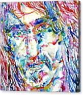 Frank Zappa  Portrait.3 Canvas Print