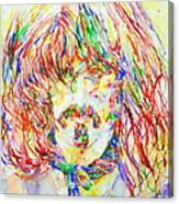 Frank Zappa Watercolor Portrait.1 Canvas Print