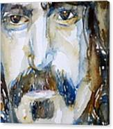 Frank Zappa Watercolor Portrait.2 Canvas Print