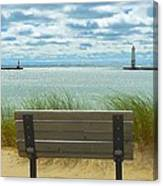 Frankfort Lighthouse Front Row Seats Available Canvas Print