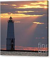 Frankfort North Breakwater Lighthouse Canvas Print