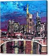 Frankfurt Main Germany - Mainhattan Skyline Canvas Print