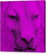 Frankie Lion Purple Canvas Print