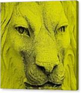 Frankie Lion Yellow Canvas Print