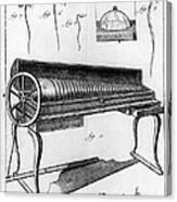 Franklin: Armonica, 1761 Canvas Print