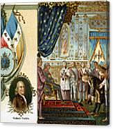 Franklin At Versailles Canvas Print