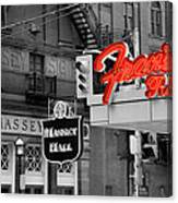 Frans Restaurant 2 Canvas Print