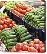 Frash Fruit And Vegetables Canvas Print