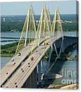Fred Hartman Bridge Houston Canvas Print