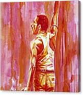 Freddie Mercury Singing Portrait.3 Canvas Print