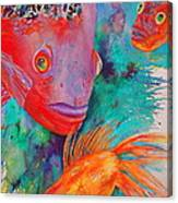 Freddy Fish And Friends Canvas Print