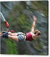 Free As A Bird Bungee Jumping Canvas Print